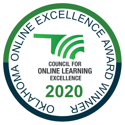 Oklahoma Online Excellence Award Winner