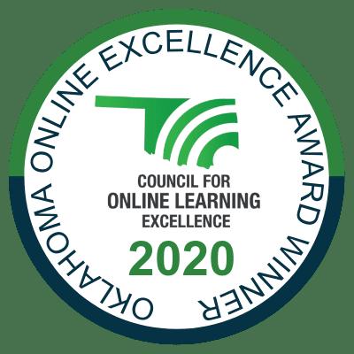 2020 Oklahoma Online Excellence Award Winner