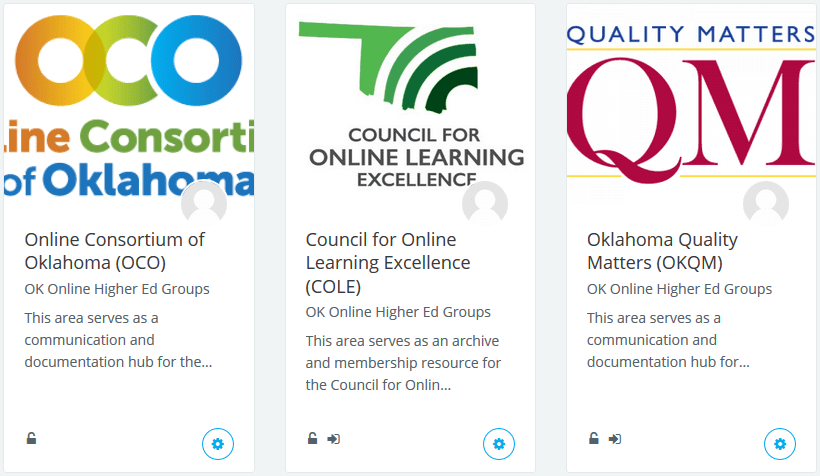 Collaboration Groups: In-depth information for Oklahoma's online collaboration groups.