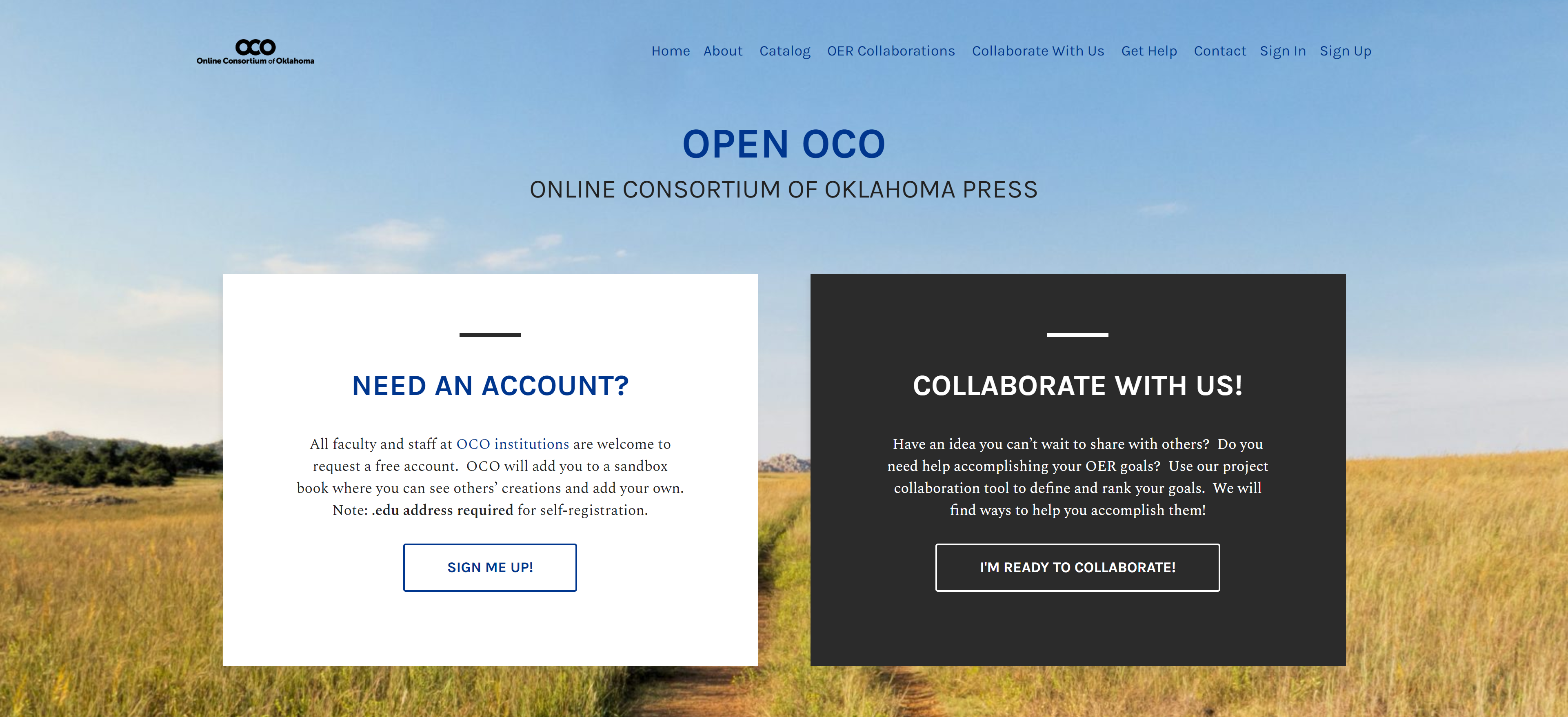 Go to OPEN OCO Pressbooks webpage