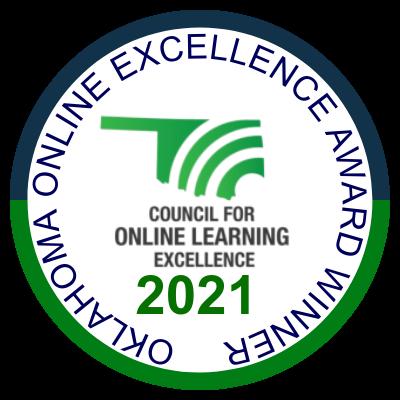Oklahoma Online Excellence Award Winner 2021